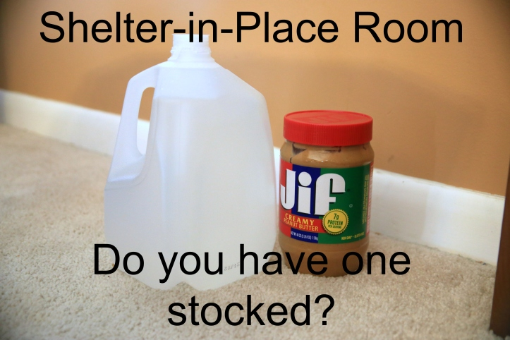 Shelter-in-Place Room-Do you have one stocked? All you need to consider and have in case of emergency. By www.carriereedtravels.com