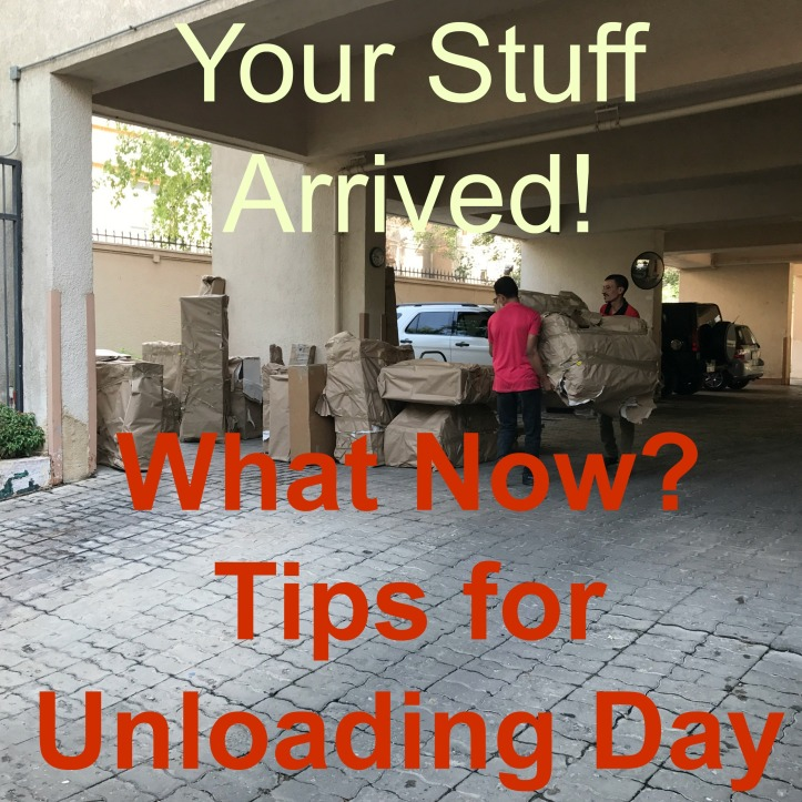 The Arrival of Our Sea Freight: Tips for a Successful Unloading the Truck Day | www.carriereedtravels.com