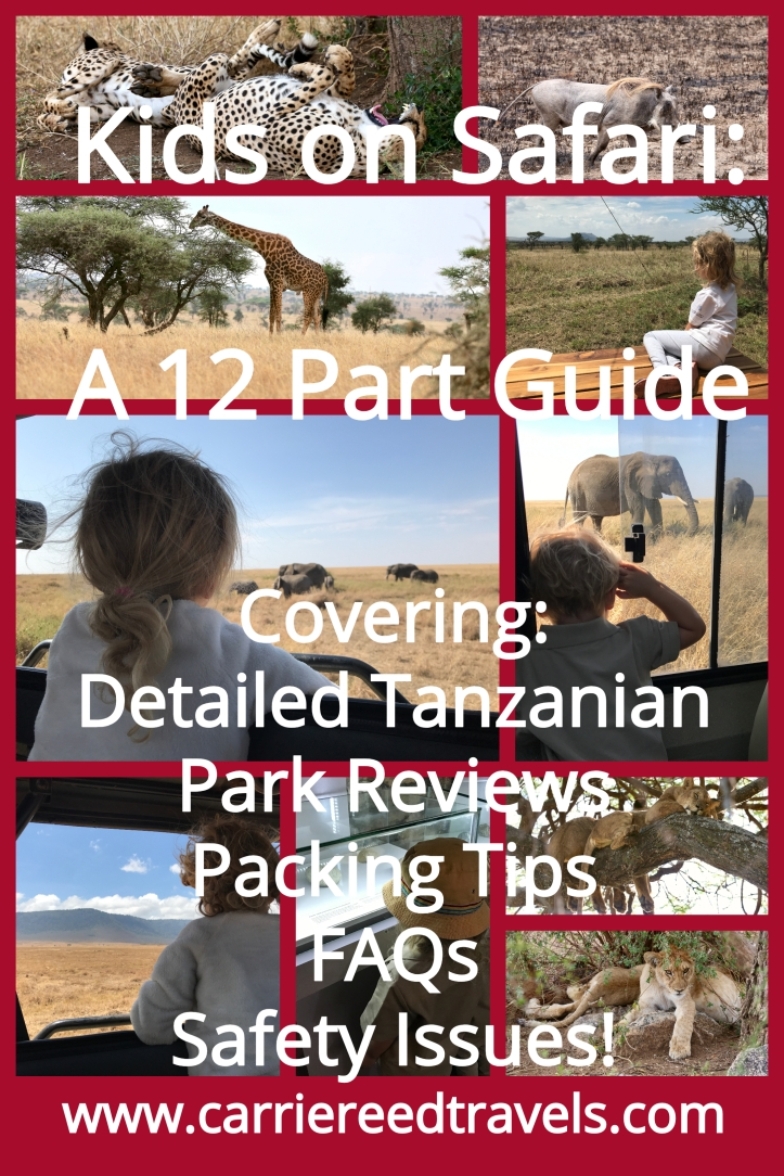 Kids on Safari: A 12 Part How To Guide to Having the Best Safari, including a detailed review of our Tanzanian safari (Tarangire, Lake Manyara, Ngorongoro Crater, and the Serengeti), and general tips for safari packing, planning, and traveling with little kids no matter where you safari. | www.carrietravels.com