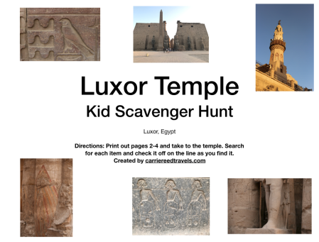 Luxor Temple Kid Scavenger Hunt -Luxor, Egypt |www.carriereedtravels.com