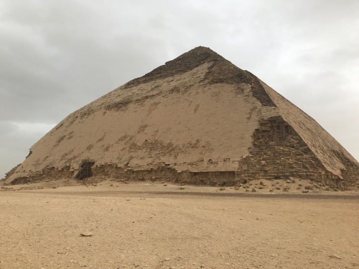 A large pyramid whose angle changes abruptly halfway up