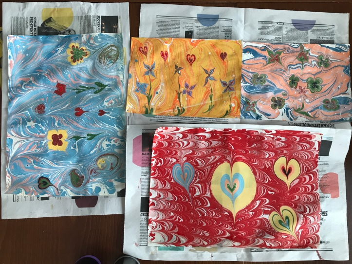 Ebru Art: Turkish Marbling with Kids | www.carriereedtravels.com